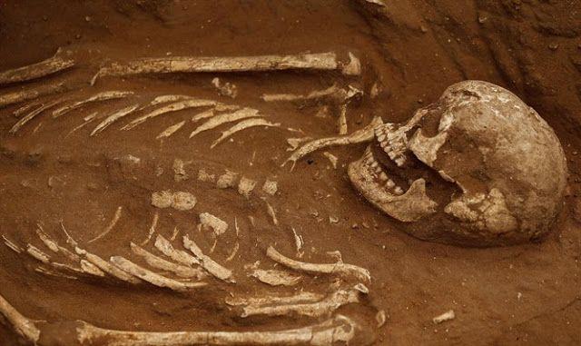 Esqueleto excavado en el antiguo cementerio filisteo en el sur de Israel [Reuters]