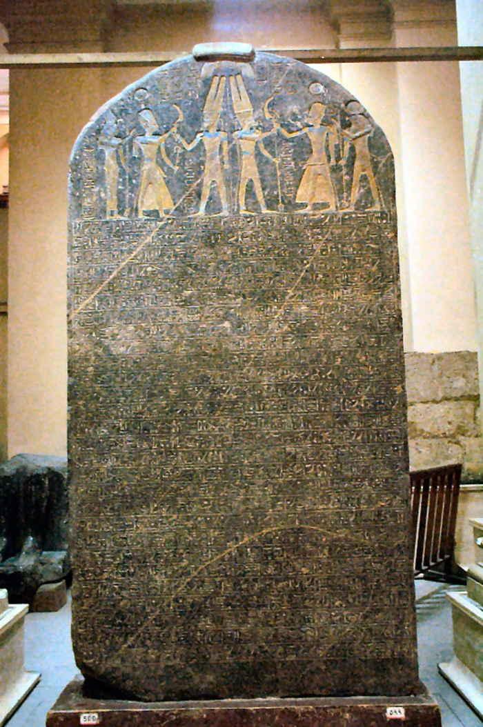"""La Estela de Merneptah, que dice: """"Israel ha sido devastada, su simiente ya no existe"""". No exactamente. Webscribe, Wikimedia Commons"""