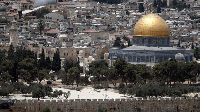 Monte del Templo en Jerusalém con la cúpula de la ocupación musulmana, 17 de julio de 2017. (AFP Photo / Thomas Coex)