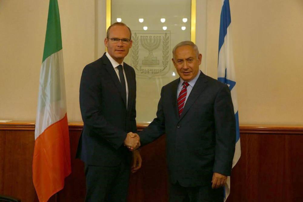 Netanyahu tajante con ministro de Relaciones Exteriores de Irlanda