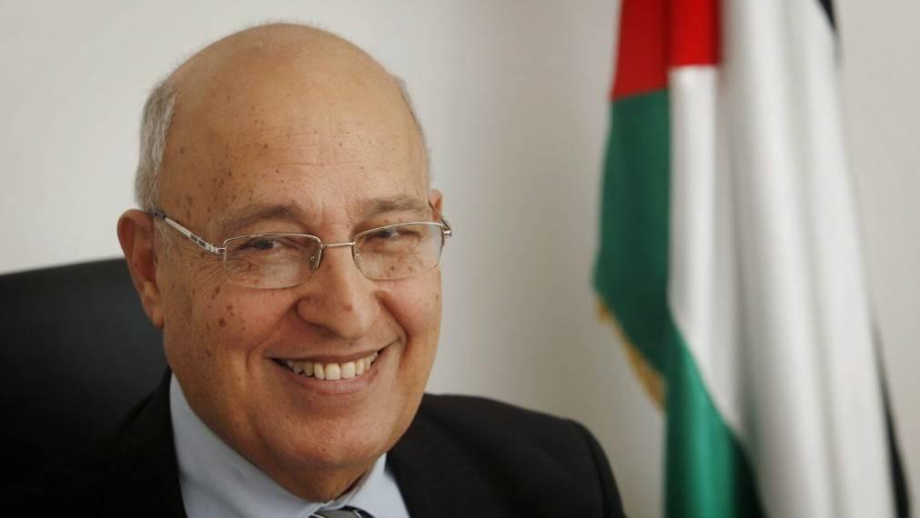 Nabil Shaath en su oficina de Ramallah, 18 de enero de 2012 (foto: Miriam Alster / Flash 90)