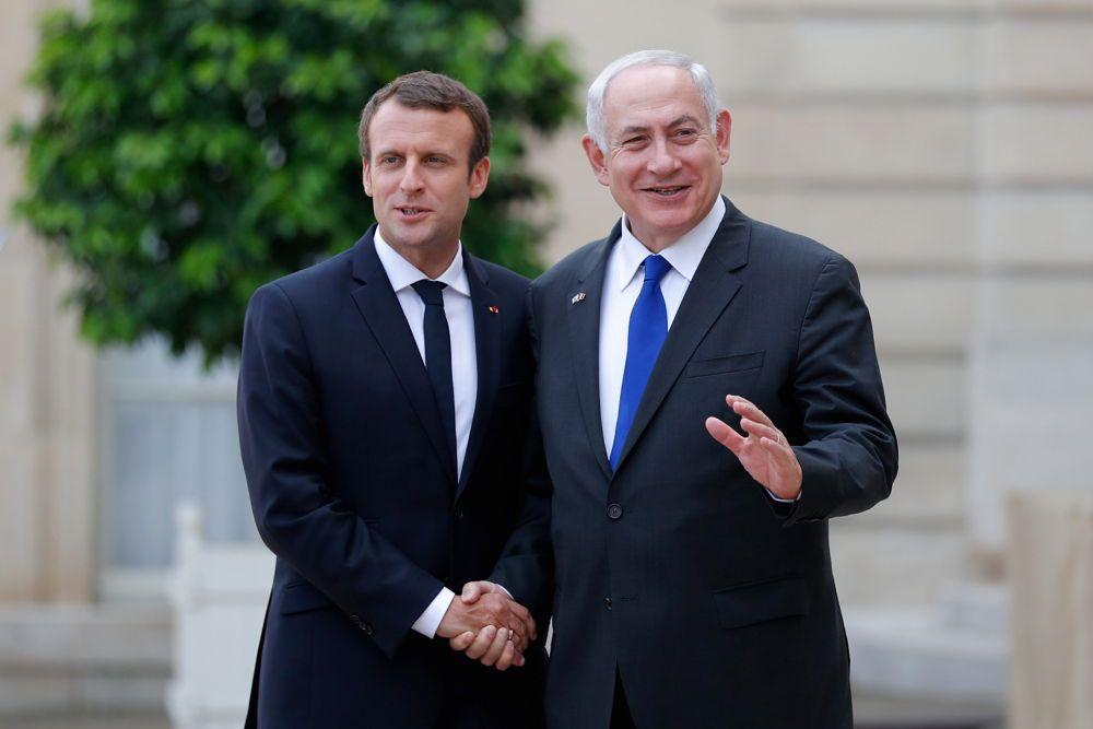 Mensajes de Macron y Netanyahu en Francia