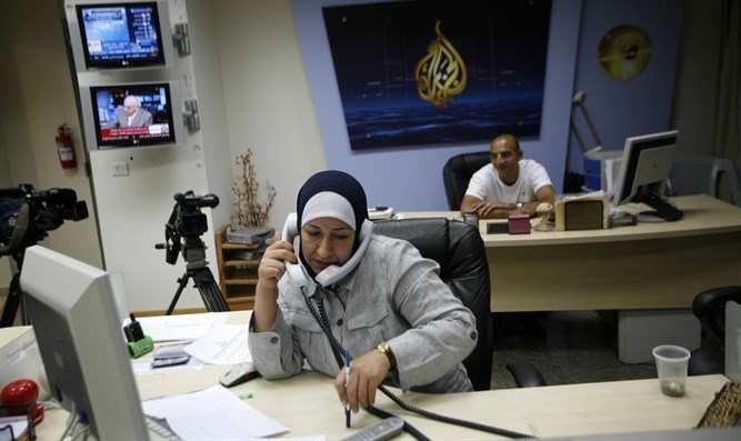 Oficinas de Al-Jazeera en Ramallah (Foto: Flash 90)