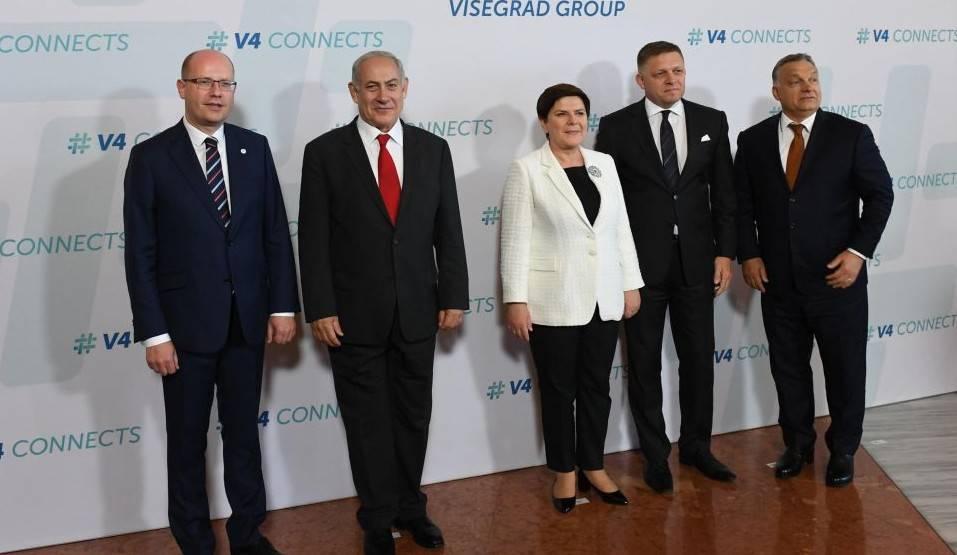 PM Netanyahu y los jefes de Estado de Hungría