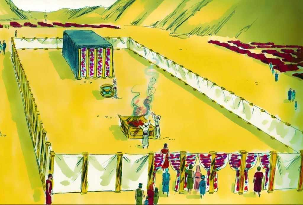 Representación del artista del Tabernáculo (imágenes gratuitas de la Biblia)
