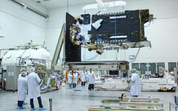 AMOS-6 en la producción. Foto cortesía de Spacecom