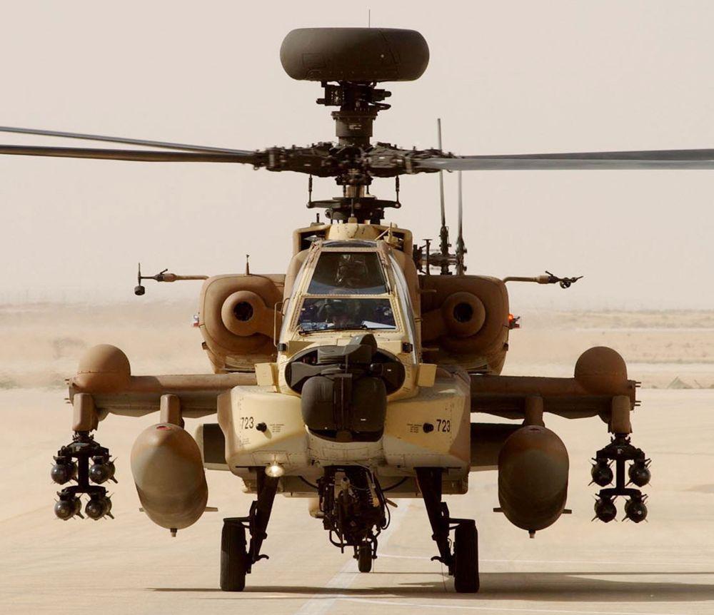 Helicóptero Apache de la Fuerza Aérea israelí (foto: Gettyimages)