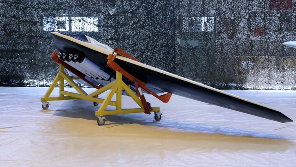 Un drone utilizado por la Guardia Revolucionaria de Irán (AP)