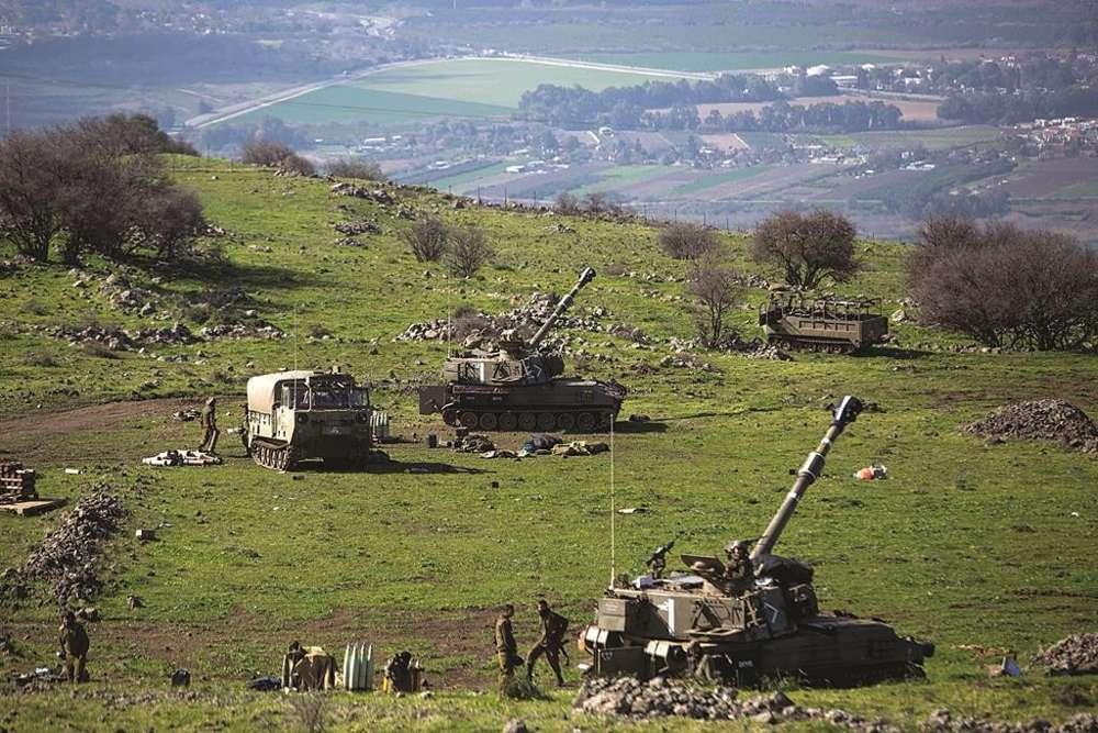 Tropas israelíes en el Monte Dov (Awidat Basal / Flash 90)