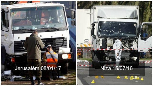 El ataque islámico con un camión en Niza tuvo cobertura a nivel mundial. Pro el ataque islámico con camión en Jerusalém, nunca fue noticia para el resto del mundo.