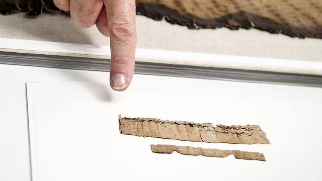 El papiro está preservado en los laboratorios de conservación del Mar Muerto de la Autoridad de Antigüedades de Israel (Foto: Shai Halevi, cortesía de la Autoridad de Antigüedades de Israel)