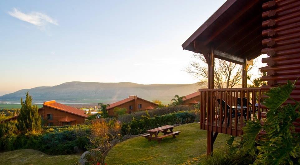 Vista desde el hotel en el Kibutz Ein Harod actualmente. (Foto: http://www.ein-harod.co.il)