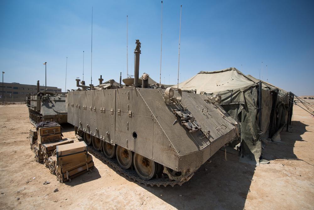 """La FDI se prepara para el ejercicio """"Or Hadagan"""", el ejercicio más grande en 20 años, el 4 de septiembre de 2017. (Fuerzas de Defensa de Israel)"""