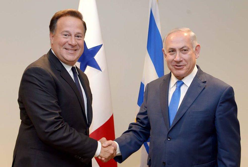 Netanyahu y Varela hablan del Tratado de Libre Comercio entre Israel y Panamá