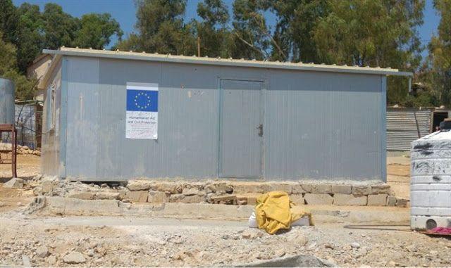 Construcciones ilegales de la UE para los árabes en territorio israeli.