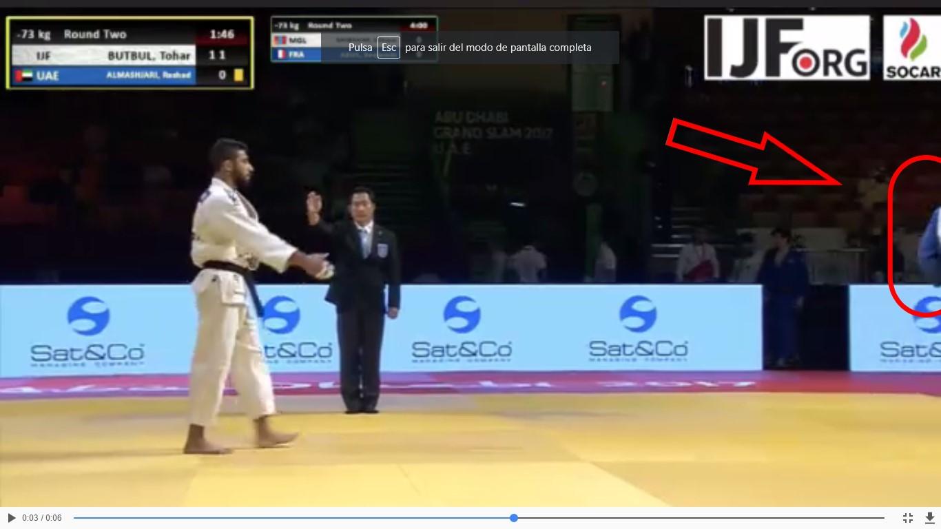 Judoka de EAU niega saludo a judoka israelí