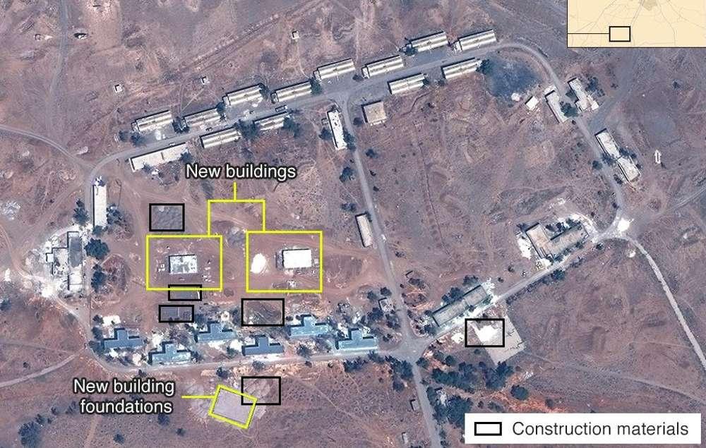 Base mitiar de Irán en Siria