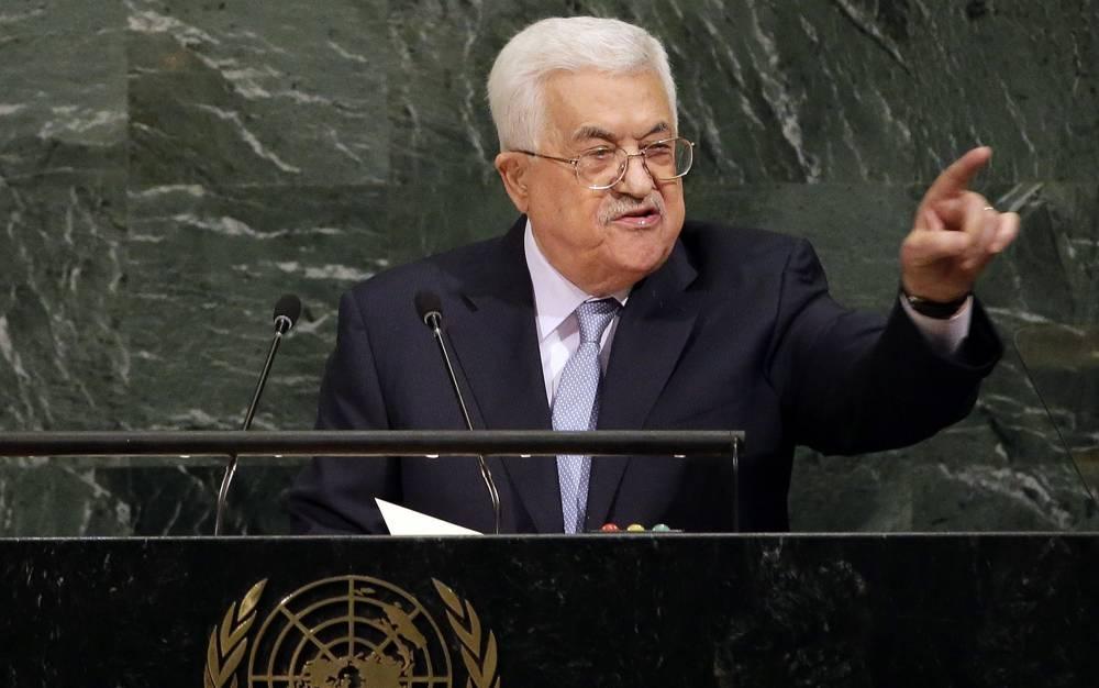 El presidente de la Autoridad Palestina, Mahmoud Abbas, habla durante la Asamblea General de las Naciones Unidas en la sede de la ONU, el 20 de septiembre de 2017. (AP / Seth Wenig)
