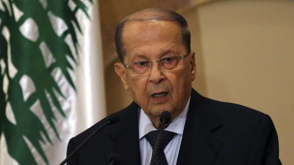 Michel Aoun habla con los periodistas el 20 de octubre de 2016. (AP Photo / Hussein Malla, Archivo)