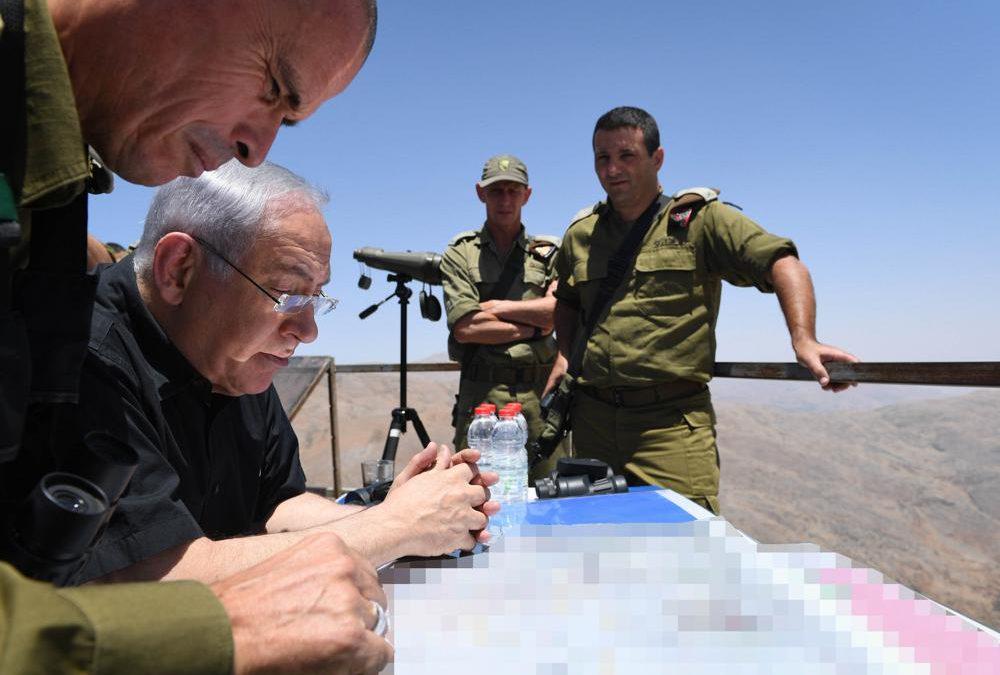 Netanyahu felicita a los soldados de Israel en la frontera con Gaza
