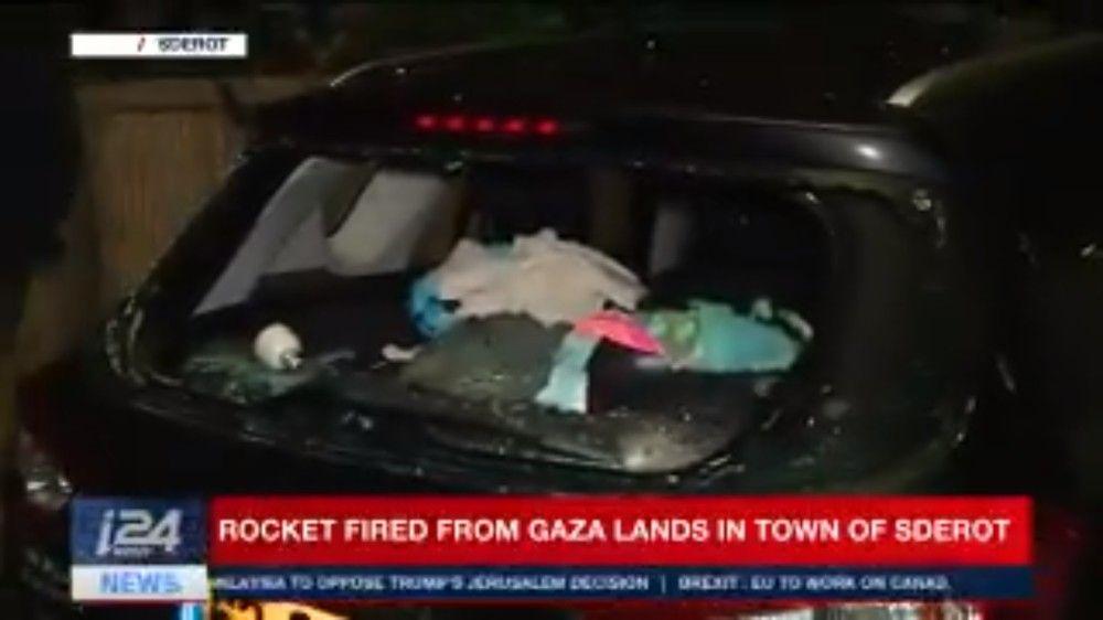 Ataque con cohete desde Gaza a Sderot