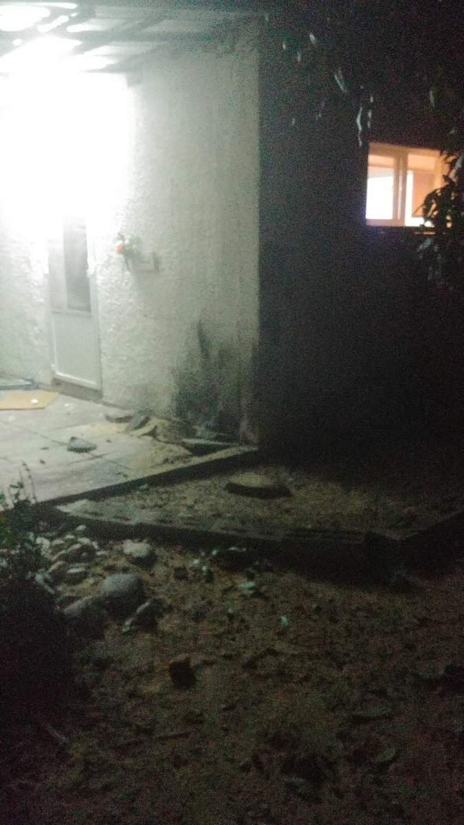 Casa israelí impactada por cohete desde Gaza el domingo 17/12/17