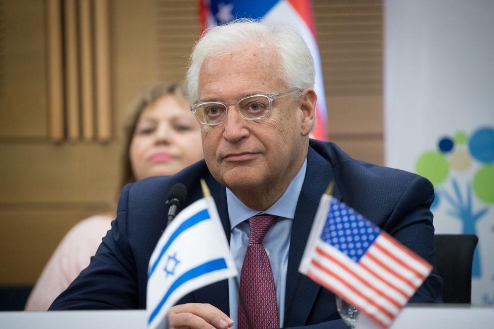 El embajador estadounidense en Israel, David Friedman. (Yonatan Sindel / Flash90)