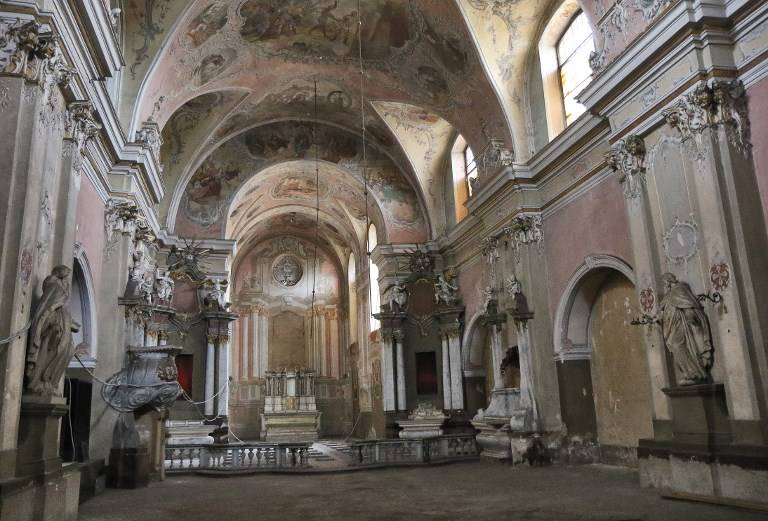 El interior de la iglesia de San Jorge se muestra en Vilnius el 9 de noviembre de 2017. (AFP / Petras Malukas)