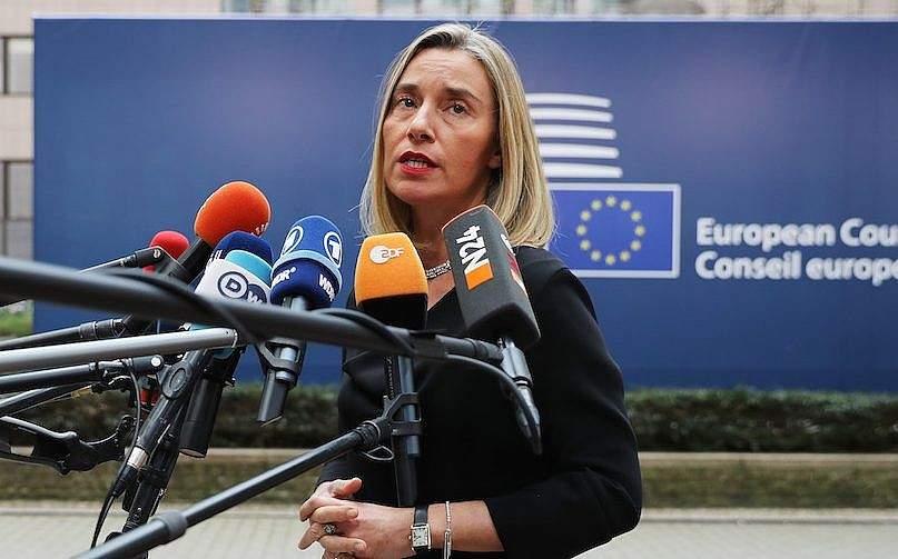 Federica Mogherini, jefa de política exterior de la Unión Europea (Dan Kitwood / Getty Images vía JTA)