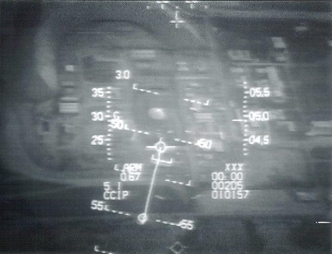 La vista del reactor nuclear iraquí como se ve en la pantalla de uno de los F-16 (Foto: IDF / AF a través de Tsahi Ben-Ami / Flash 90)
