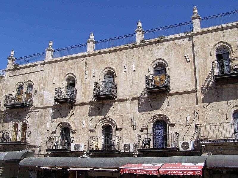 El Hotel Petra en la Ciudad Vieja de Jerusalém. (CC-BY-SA: Ranbar / Wikimedia)