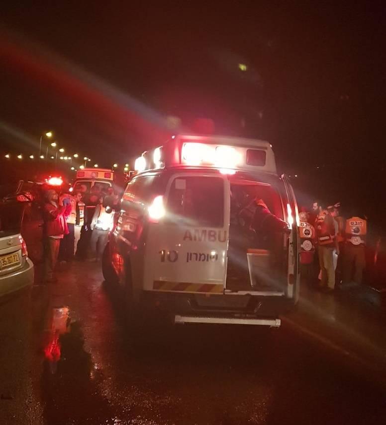 Escena de la tragedia en Samaria (Foto: MDA)