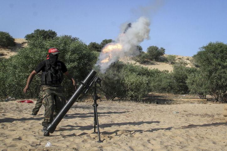 Tres granadas de mortero disparadas desde Gaza al sur de Israel