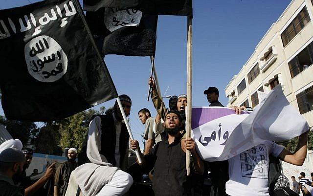 Los salafistas se manifiestan en el sur de la Franja de Gaza en septiembre de 2012. (Abed Rahim Khatib / Flash 90)