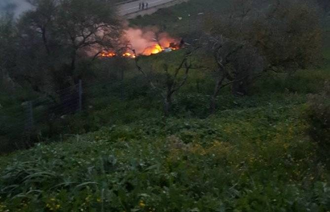 Avión israelí derribado por misiles sirios.