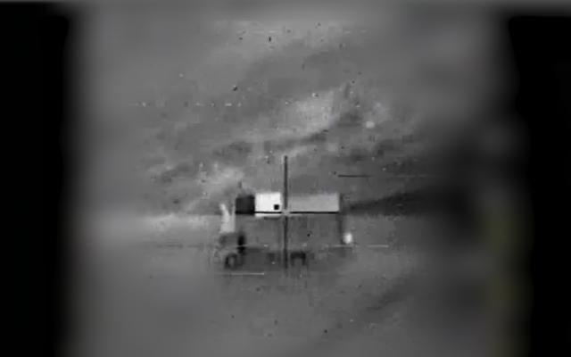 El centro de comando móvil desde el cual Israel dice que un operador iraní voló un avión no tripulado desde Siria al espacio aéreo israelí el 10 de febrero de 2018. (Fuerzas de Defensa de Israel)
