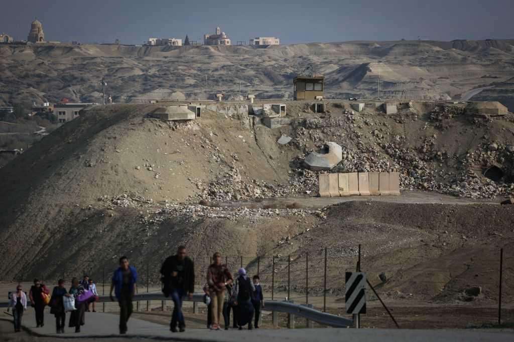 Un puesto de guardia fronterizo de las FDI en Qasr al-Yahud, cerca del río Jordán y la frontera entre Israel y Jordania, el 18 de enero de 2015. (Hadas Parush / Flash 90)