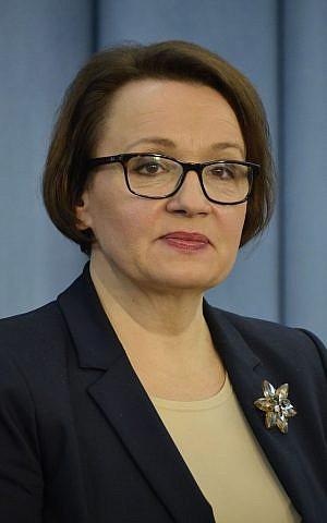 La Ministra de Educación de la Policía, Anna Zalewska.(CC BY-SA 3.0 Adrian Grycuk / Wikipedia)