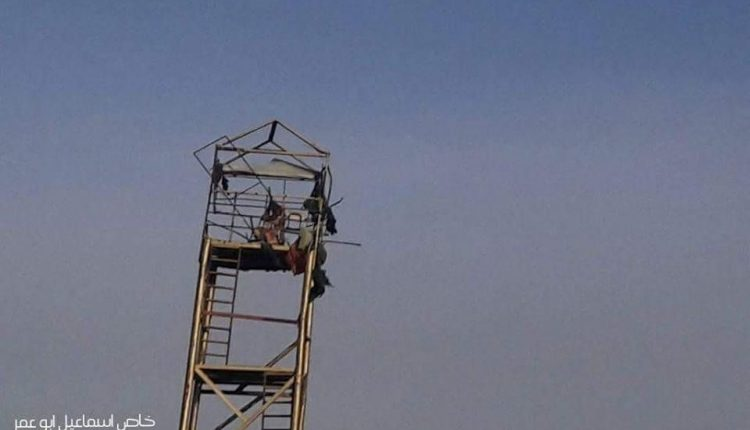 Puesto de observación de la Jihad Islámica derribado por tanque israelí.