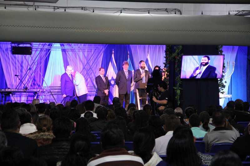 Un evento que celebra a Israel en la ciudad de Guatemala, el 27 de enero de 2018 (Ilan Kottler)