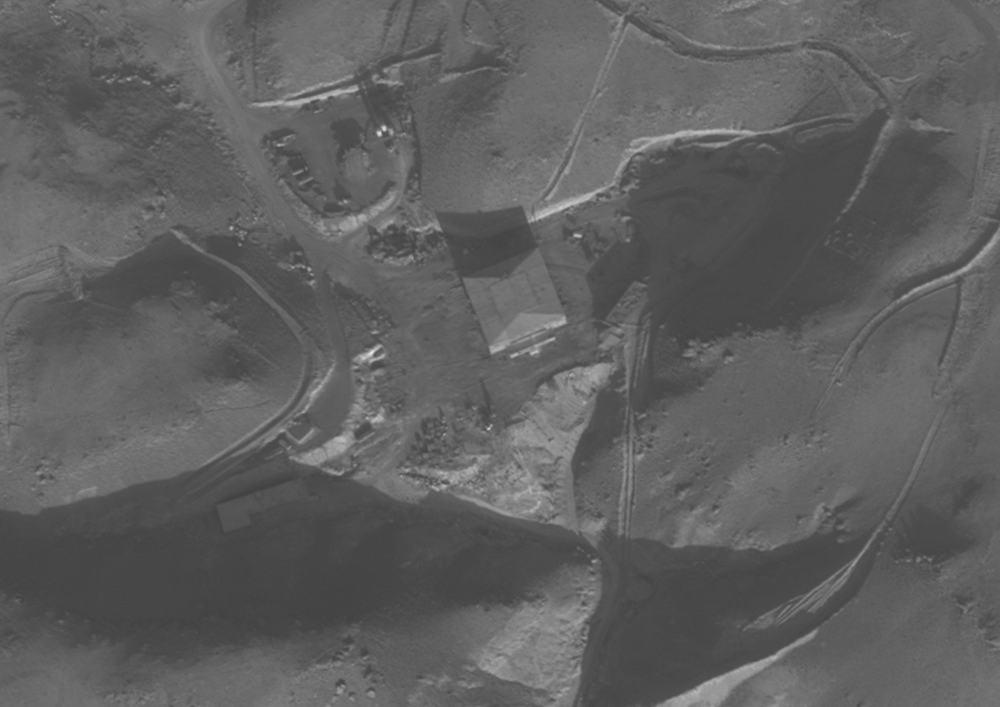 El reactor nuclear sirio al-Kibar, que fue destruido por Israel, el 6 de septiembre de 2007. (Fuerzas de Defensa de Israel)
