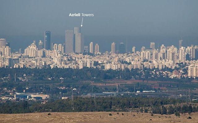 Sky line de Tel Aviv – vista desde el supuesto Estado palestino (Foto: Hagai Nativ)