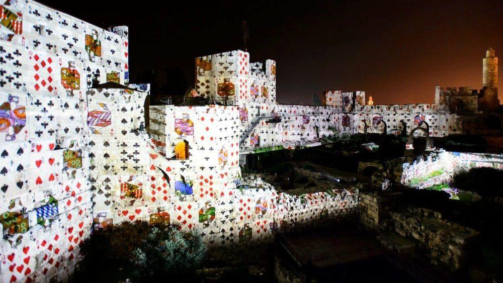 Escena inspirada por el artista Jean David en Tower of David King David Night Experience, marzo de 2018 (Naftali Hilger)