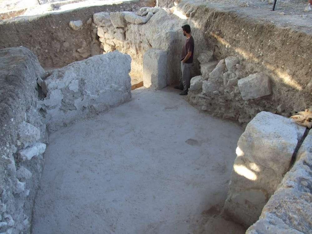 Habitaciones en la gran casa descubierta en Othnay, Meguido (Foto: Dr. Yotam Tepper)