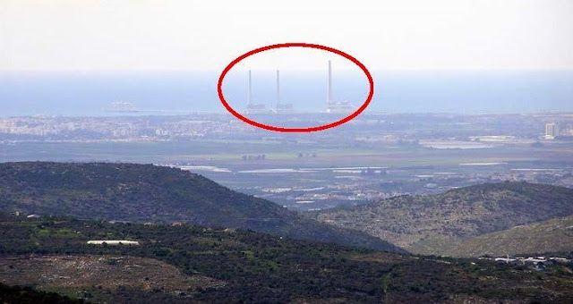 Los vulnerables elementos de generación de energía de Israel – vistos desde el supuesto Estado palestino (Foto: Hagai Nativ)