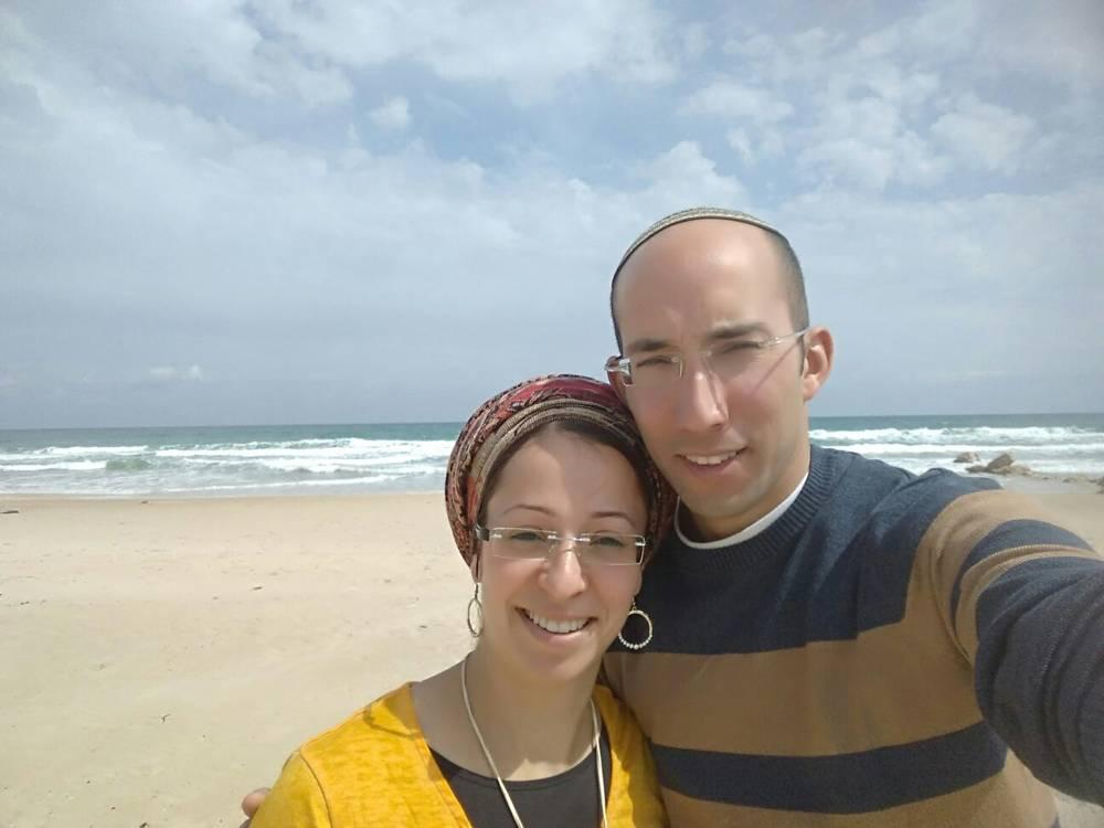 Itamar Ben-Gal, a la derecha, quien fue asesinado por un terrorista musulmán el 5 de febrero de 2018, en la foto con su esposa Miriam.(Cortesía)