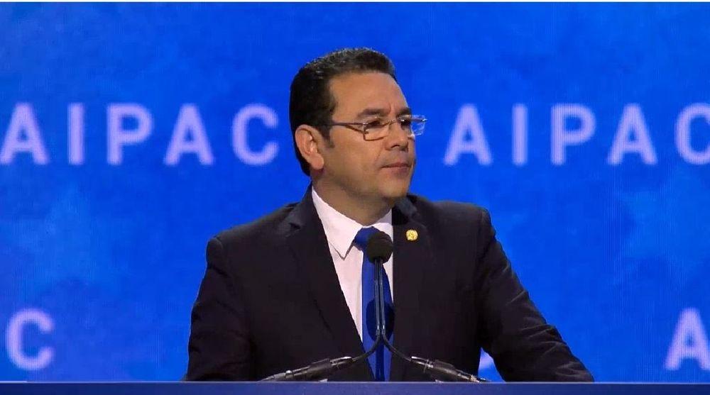 """Jimmy Morales: """"Guatemala trasladará permanentemente su embajada a Jerusalem en mayo"""""""