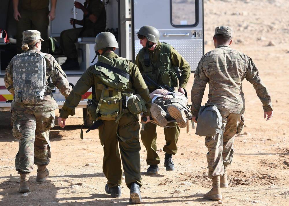 Las tropas estadounidenses e israelíes participan en el ejercicio de defensa aérea Juniper Cobra 2018 en marzo de 2018. (Ejército de EE.UU.)
