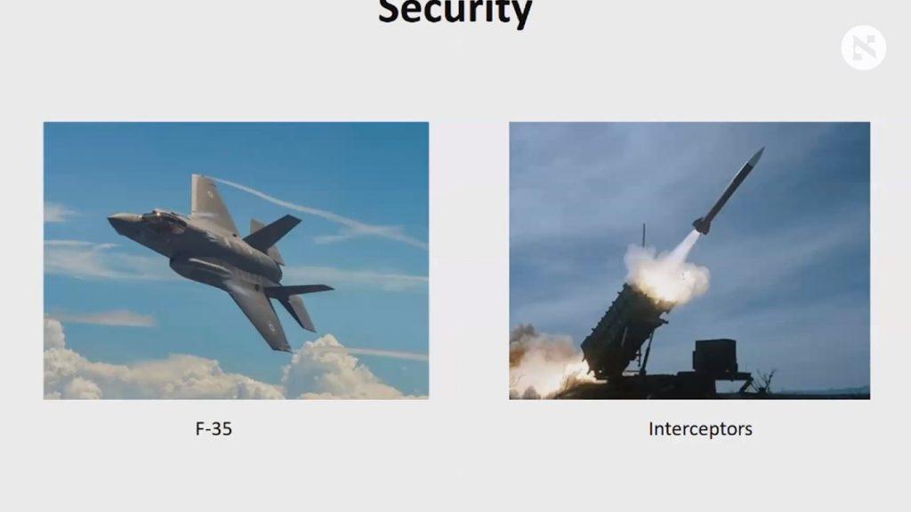 Netanyahu muestra el F-35 Adir de Israel y el sistema de defensa Cúpula de Hierro. (Captura de pantalla)