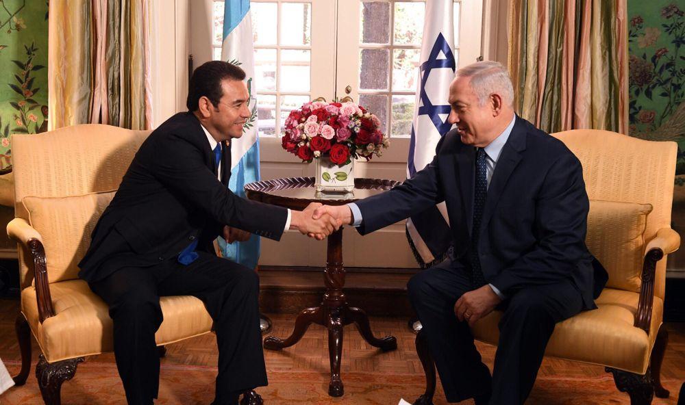 Netanyahu y el presidente de Guatemala hablan sobre el movimiento de la embajada